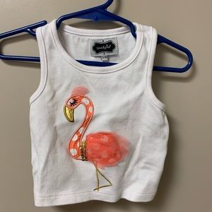 Mudpie 6-9 months Flamingo outfit
